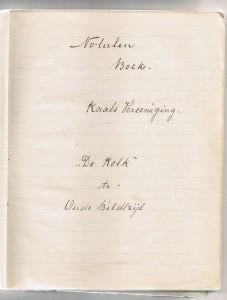 1e blads netullenboek kv de kolk 1921